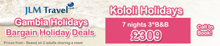 Cheap Kololi Holidays